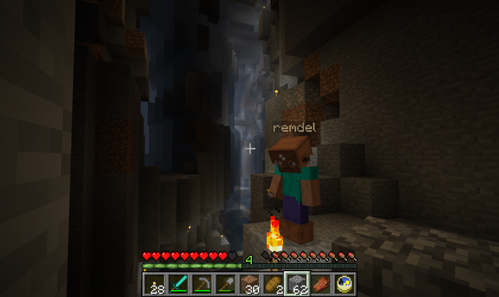 Serveur Bidou remdel exploration caverne  mc